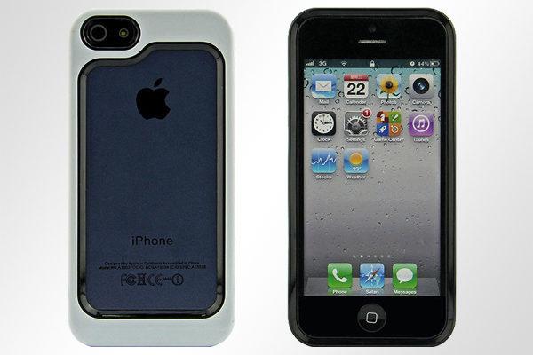 Bridge94 iPhone 5/5S/SE Hybrid-Bumper, weiss-schwarz