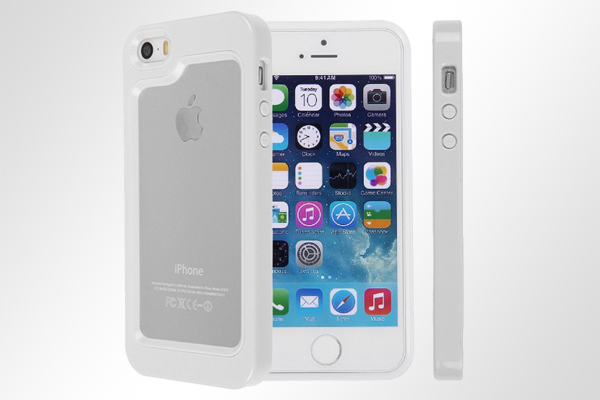 Bridge94 iPhone 5/5S/SE Hybrid-Bumper, weiss-weiss