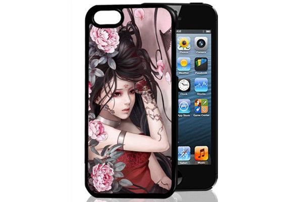 Bridge94 iPhone 5/5S/SE 3D-Back-Cover, Frau liegend