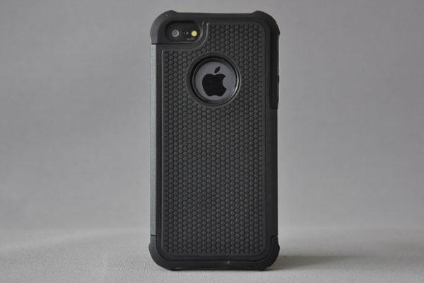 Bridge94 iPhone 5/5S/SE Schockproof-Back-Cover, schwarz