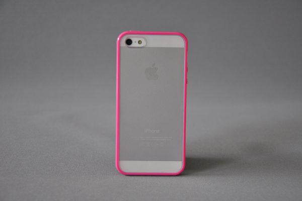 Bridge94 iPhone 5/5S/SE Back-Cover mit Rückseitenschutz, pink