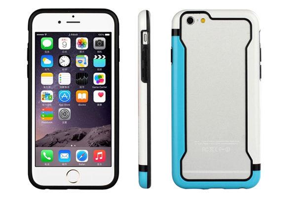 Bridge94 iPhone 6/6S Biocolor Shockproof Bumper, blau-weiss
