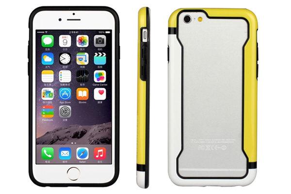 Bridge94 iPhone 6/6S Biocolor Shockproof Bumper, gelb-weiss