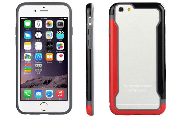 Bridge94 iPhone 6/6S Biocolor Shockproof Bumper, rot-schwarz