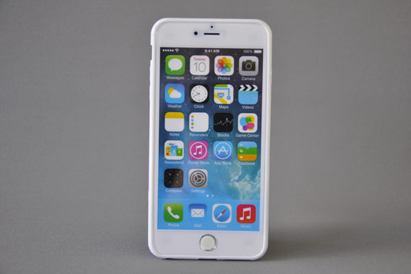 Bridge94 iPhone 6 Plus / Plus S Shockproof Back-Cover transparent, weiss