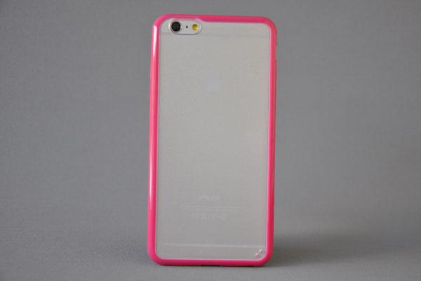 Bridge94 iPhone 6 Plus / Plus S Shockproof Back-Cover transparent, pink