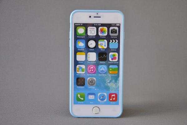 Bridge94 iPhone 6 Plus / Plus S Shockproof Back-Cover transparent, hellblau