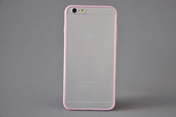 Bridge94 iPhone 6 Plus / Plus S Shockproof Back-Cover transparent, rosa
