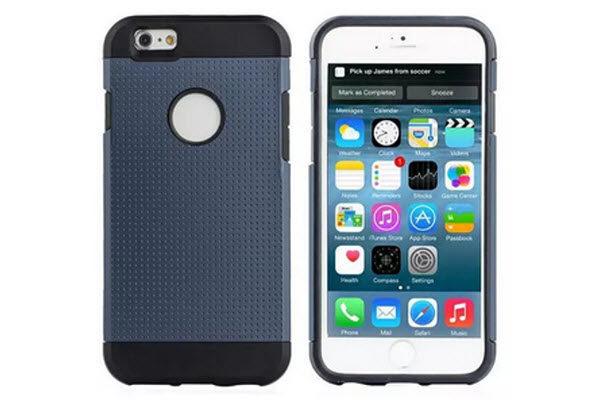 Bridge94 iPhone 6/6S Shockproof Back-Cover, dunkelblau