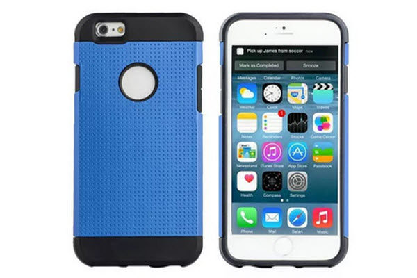 Bridge94 iPhone 6/6S Shockproof Back-Cover, blau