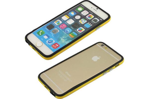 Bridge94 iPhone 6/6S Dual-TPU-Bumper, schwarz-gelb