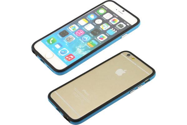 Bridge94 iPhone 6/6S Dual-TPU-Bumper, schwarz-blau