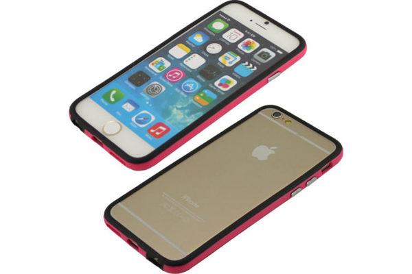 Bridge94 iPhone 6/6S Dual-TPU-Bumper, schwarz-pink