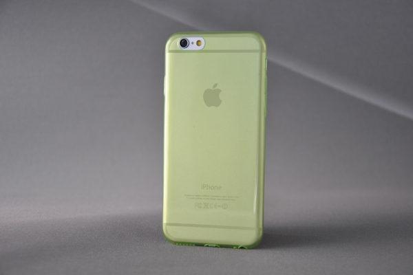 Bridge94 iPhone 6/6S Ultradünnes TPU-Back-Cover, grün-transparent