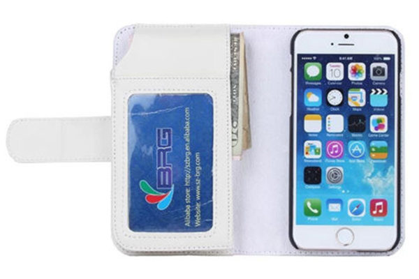 Bridge94 iPhone 6 Plus / Plus S PU-Leder-Wallet, weiss