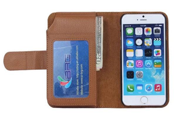 Bridge94 iPhone 6 Plus / Plus S PU-Leder-Wallet, braun