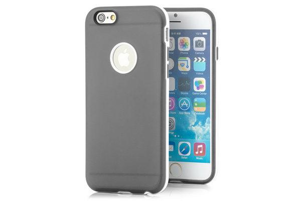 Bridge94 iPhone 6/6S TPU Hybrid-Back-Cover, grau