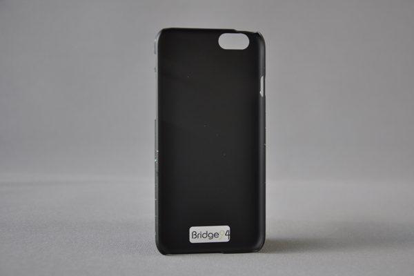 Bridge94 Ultradünnes Back-Cover für das iPhone 6/6S, schwarz-hellblau
