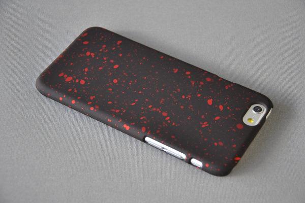 Bridge94 Ultradünnes Back-Cover für das iPhone 6/6S, schwarz-rot