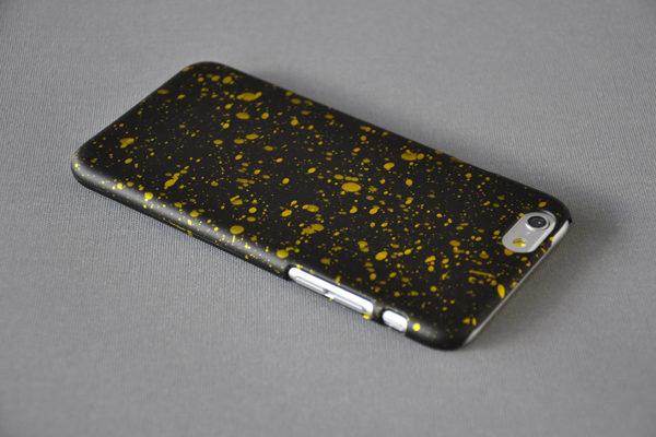 Bridge94 Ultradünnes Back-Cover für das iPhone 6/6S, schwarz-gelb