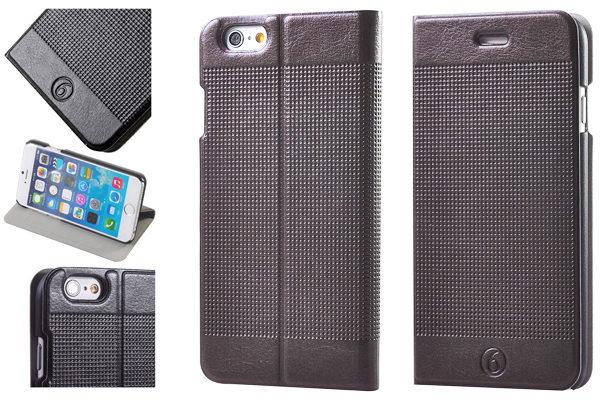 Bridge94 iPhone 6 Plus/6 Plus S PU-Leder-Flip-Case, dunkelbraun