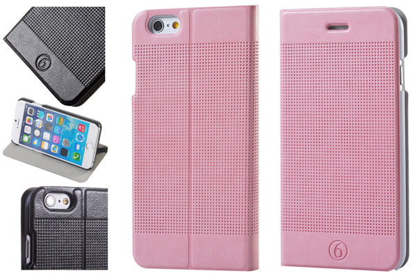 Bridge94 iPhone 6/6S PU-Leder-Flip-Case, rosa