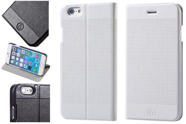 Bridge94 iPhone 6 Plus/6 Plus S PU-Leder-Flip-Case, weiss