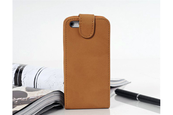 Bridge94 iPhone 5/5S/SE PU-Flip-Leder-Case, braun