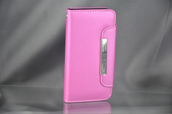 Bridge94 iPhone 5/5S/SE PU-Leder-Case, pink