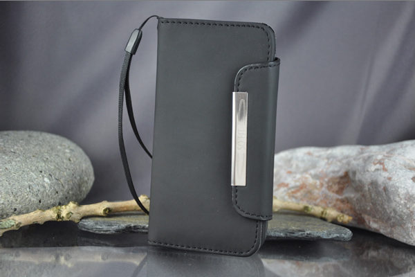 Bridge94 iPhone 5/5S/SE PU-Leder-Case, schwarz