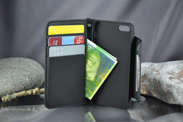 Bridge94 iPhone 5/5S/SE PU-Leder-Case, schwarz