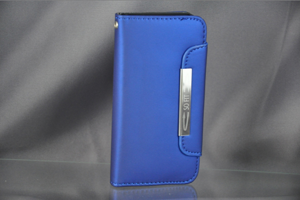 Bridge94 iPhone 5/5S/SE PU-Leder-Case, blau