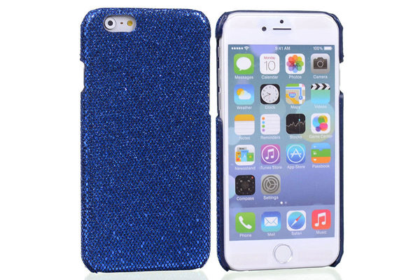 Bridge94 iPhone 6/6S BLING Back-Cover, dunkelblau