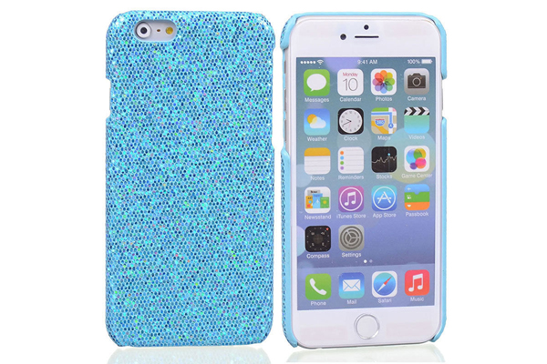 Bridge94 iPhone 6/6S BLING Back-Cover, hellblau
