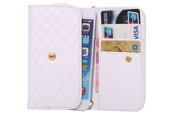 Bridge94 iPhone 6/6S Wallet-Case, weiss