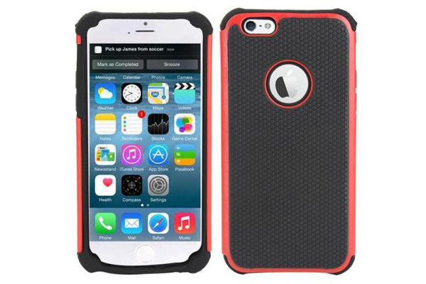 Bridge94 iPhone 6/6S Shockproof Back-Cover, rot