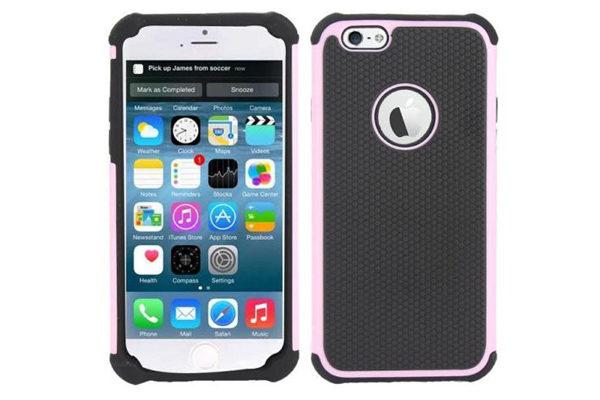 Bridge94 iPhone 6/6S Shockproof Back-Cover, rosa