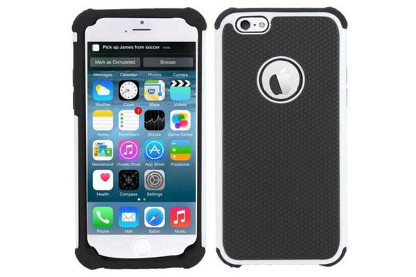 Bridge94 iPhone 6/6S Shockproof Back-Cover, weiss