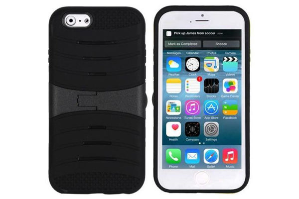 Bridge94 iPhone 6/6S Shockproof Back-Cover mit Standfunktion, schwarz