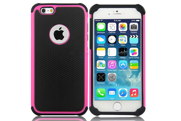 Bridge94 iPhone 6/6S Shockproof Back-Cover, pink