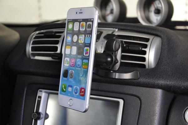Bridge94 Auto-Lüftungshalterung für alle Smartphone und Tablets, schwarz