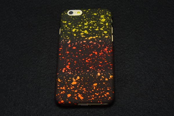 Bridge94 iPhone 6/6S Back-Cover, gelb-rot-orange neon
