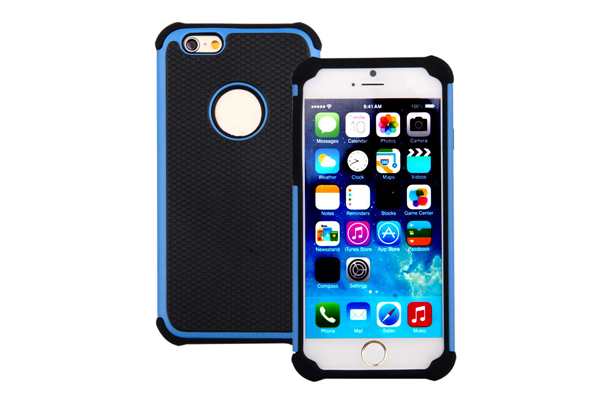 Bridge94 iPhone 6/6S Shockproof Back-Cover, blau
