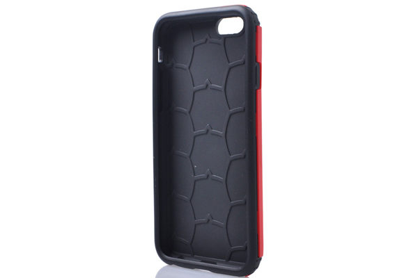 iPhone 6/6S Shockproof Back-Cover Schild, rot