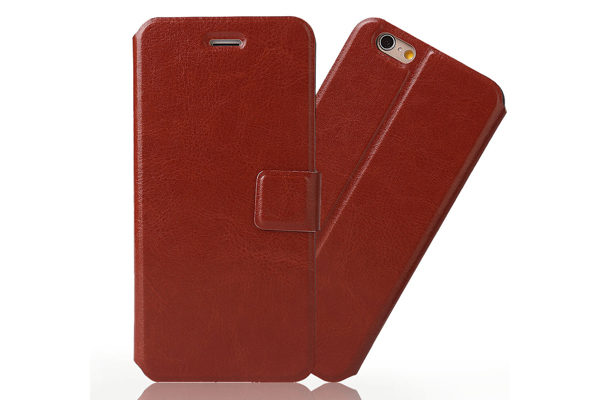 Bridge94 iPhone 6 Plus/6 Plus S PU-Leder-Etui, braun