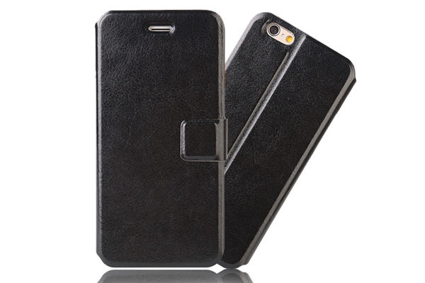 Bridge94 iPhone 6 Plus/6 Plus S PU-Leder-Etui, schwarz