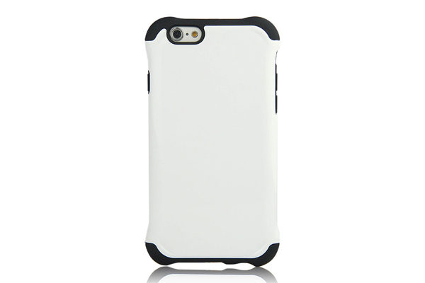iPhone 6/6S Shockproof Back-Cover, weiss glanz