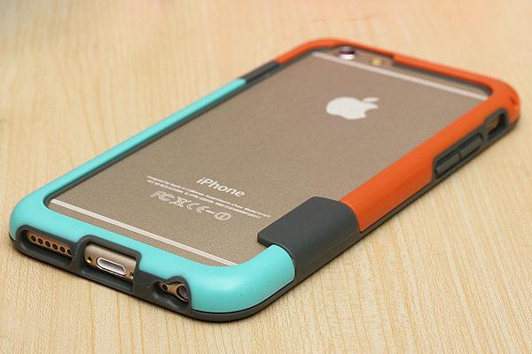 Bridge94 iPhone 6/6S Bumper, orange-türkis