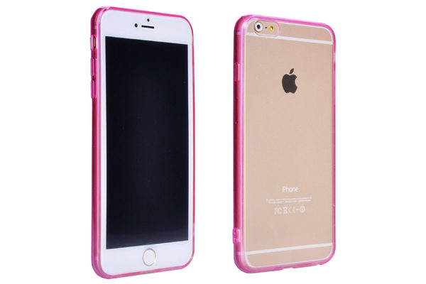 Bridge94 iPhone 6 Plus / Plus S Back-Cover klar, pink