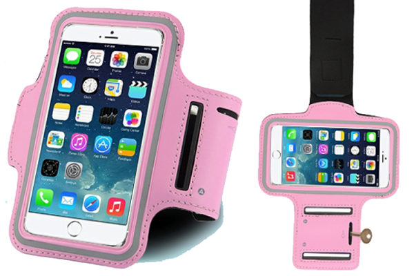 Bridge94 iPhone 6/6S/7 Sport-Armband, rosa